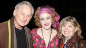 Show people Victor Garber (a former Daddy Warbucks in the 1999 TV movie) and Debra Monk flank their two-time Tony-winning friend Katie Finneran.
