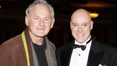"It's a meeting of the Oliver ""Daddy"" Warbuckses! Victor Garber congratulates Australian theater legend Anthony Warlow on his brilliant performance."