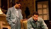 Chuck Cooper as Wining Boy, Jason Dirden as Lymon, Brandon Dirden as Boy Willie and Roslyn Ruff as Berniece in The Piano Lesson.