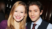 Molly Ranson and Michael Zegen, who play lovers in Bad Jews, look just as cheery together off stage.