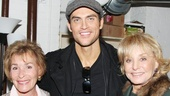 "The Performers star and resident Broadway hunk Cheyenne Jackson gets cozy with daytime TV legends Judith ""Judge Judy"" Sheindlin and Barbara Walters."