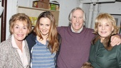 Judge Judy and Barbara Walters come in for a photo with stars Alicia Silverstone and Henry Winkler.