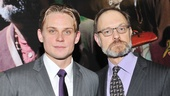 Billy Magnussen (Spike) and David Hyde Pierce (Vanya) strike a serious pose before entering their opening night party.