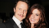It's Will and Grace! Will Chase gets some opening night love from his Smash-ing girlfriend Debra Messing.