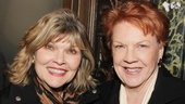 Leading ladies Debra Monk (headed to Broadway as Big Mama in Cat on a Hot Tin Roof) and Beth Fowler are all smiles on the carpet.