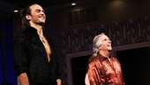 The always hilarious and gracious Cheyenne Jackson and Henry Winkler take their opening night bows.