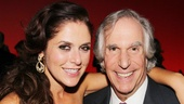 Producer Amanda Lipitz beams with Chuck Wood himself, Henry Winkler.