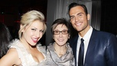 The Performers producer Robyn Goodman cuts in between stars Ari Graynor and Cheyenne Jackson.