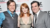 After the performance, stars P.J. Griffith, Kate Baldwin and Brian d'Arcy James clean up exceptionally well.