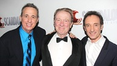 Composers David Friedman and David Pomeranz share in the excitement with their legendary star George Hearn.