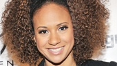 Tracie Thoms is on hand to support her former Stick Fly co-star, Ruben Santiago-Hudson.