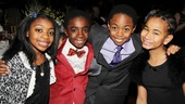 The young stars of The Lion King look so grown up! From left: Bobbi Bordley, Caleb McLaughlin, Derek Johnson and Alonie Dowden.