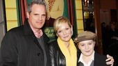 Former As the World Turns co-stars Michael Park and Maura West watch the show with her son Joe West, who plays Ralphie at certain performances.