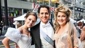 Get a good look at Laura Osnes, Santino Fontana and Victoria Clark in their gorgeous Cinderella costumes.