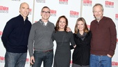 A company photo of Joe Schiappa, playwright Sharr White, Laurie Metcalf, Zoe Perry and Daniel Stern.