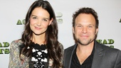 Dynamic duo: Katie Holmes and Norbert Leo Butz glow on opening night.