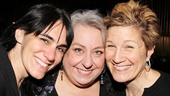 Dead Accounts star Jayne Houdyshell (c.) gets flanked by her friends (and former Well colleagues) Leigh Silverman and Lisa Kron.
