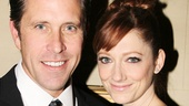 Judy Greer happily poses with new hubby Dean Johnsen.