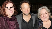 Theresa Rebeck, Norbert Leo Butz and Jayne Houdyshell pose for a family shot!