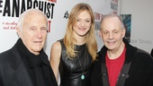Acclaimed stage actress and Homeland star Marin Ireland is flanked by The Anarchists Tony-winning lead producers Jerry Frankel and Jeffrey Richards.