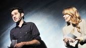 Peter and the Starcatchers Adam Chanler-Berat and Celia Keenan-Bolger share a laugh while introducing the Gypsy of the Year judges.