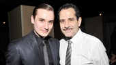 Seth Numrich celebrates opening night of Golden Boy with on-stage father, Tony Shalhoub.  Check out these talented guys' punch-packing performance at the Belasco Theatre!