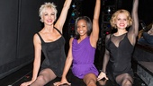 Gabby Douglas strikes a winning pose with Chicago leading ladies Amra-Faye Wright (Velma Kelly) and Amy Spanger (Roxie Hart).