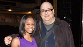 Gabby Douglas flashes her pearly whites with Raymond Bokhour (Amos Hart). 