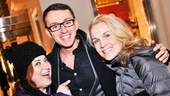 Celebrity cameo: Anne and Erin are all smiles with Broadway composer Andrew Lippa.