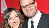 Stage lovers Seana Kofoed and Chris Bauer are all smiles on opening night.