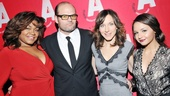 What Rhymes with America stars Da'Vine Joy Randolph, Chris Bauer, Seana Kofoed and Aimee Carrero arrive for their opening night party.
