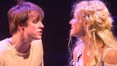 Matthew James Thomas as Pippin and Rachel Bay Jones as Catherine in Pippin.