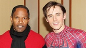 The Oscar-winning actor takes a moment with Spider-Man headliner Reeve Carney. 