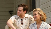 Sebastian Stan as Hal Carter, Ellen Burstyn as Helen Potts, Ben Rappaport as Alan Seymour and Maggie Grace as Madge Owens in Picnic.