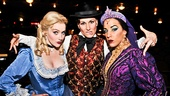 Leading ladies Betsy Wolfe, Stephanie J. Block and Jessie Mueller are back in their normal Drood costumes—but they didn't lose that hip-hop attitude.