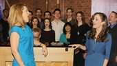 Sing it ladies! Victoria Clark and Laura Osnes preview their duet as the fairy godmother and Cinderella, Impossible, Its Possible.