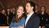 "Laura Osnes and Santino Fontana are sure to make magic as Cinderella and her Prince. Here they are performing the big ballroom number ""Ten Minutes Ago."""