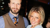 Bill Heck and Ari Graynor reunite after appearing together on Broadway in Brooklyn Boy.