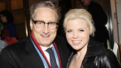 Casting guru Bernard Telsey and Smash star Megan Hilty share in the opening night excitement.