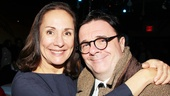 Nathan Lane congratulates star Laurie Metcalf, with whom he starred in David Mamets November on Broadway in 2008.  