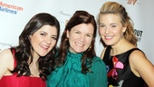 Meet the Owens gals! Mare Winningham squeezes in between her onstage daughters, Madeleine Martin and Maggie Grace.