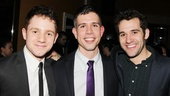 Get a load of this charming trio: Picnic's Chris Perfetti, playwright Stephen Karam and Peter and the Starcatcher star Adam Chanler-Berat.