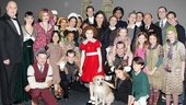 Never fully dressed without a smile! The Annie cast, Catherine Zeta-Jones and her children, Dylan and Carys, say so long for a while.  