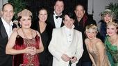 "Rita Wilson and Tom Hanks get ""Sweet and Lowdown"" with cast members Brad Oscar, Judy Kaye, Chris Sullivan, Matthew Broderick, Kelli O'Hara, Blythe Danner and Jennifer Laura Thompson."