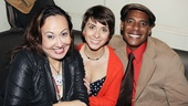 The Jammer cast members Kate Rigg, Jeanine Serralles and Billy Eugene Jones sit back and enjoy the opening night festivities.