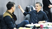 Playwright Paul Downs Colaizzo and director David Cromer map out the day's rehearsal schedule.