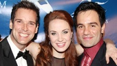 Sierra Boggess introduces her current Phantom, Hugh Panaro, to her past Phantom, Ramin Karimloo!