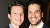 Stage and screen favorite Jonathan Groff shows some brotherly love to fellow Tony nominee Will Swenson.