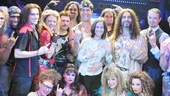 Mark Teixeira and Leigh Williams strike rocker poses with the Broadway cast of Rock of Ages. Congratulations, Mark!