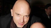 Titanic and Tommy co-stars Michael Cerveris and Paul Kandel catch up at the All the Rage opening party.